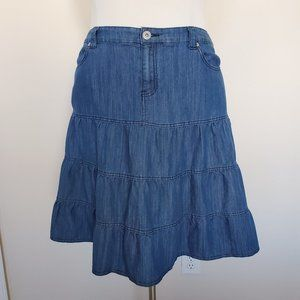 Westport Woman Denim Blue Jean Skirt Plus Size 18W